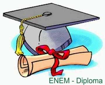 enem diploma Enem Certificação Ensino Médio   Diploma